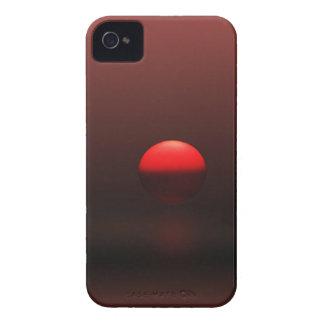 Grande caisse iPhone4 abstraite rouge de Sun Coque iPhone 4