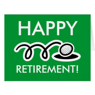 Grande carte surdimensionnée de retraite pour des