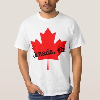 Grande feuille d'érable rouge lumineuse Canada T-shirt