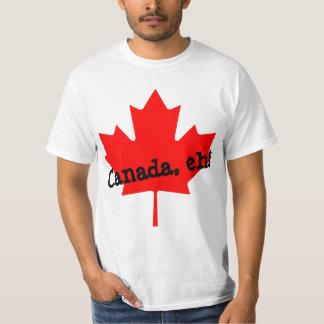 Grande feuille d'érable rouge lumineuse Canada Tee-shirts