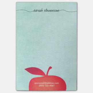 Grande formation de maître d'école rouge d'Apple Note Autocollante