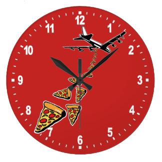 Grande Horloge Ronde Aucune guerre plus de pizza