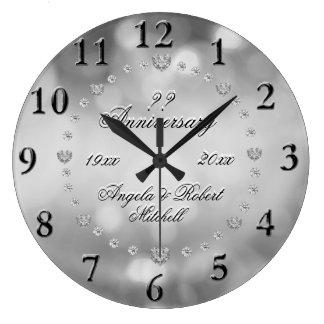 Grande Horloge Ronde Tout anniversaire d'année élégant