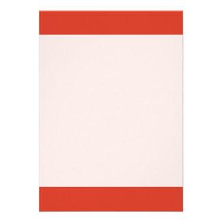 Grande mauvaise couleur orange simple carton d'invitation  12,7 cm x 17,78 cm