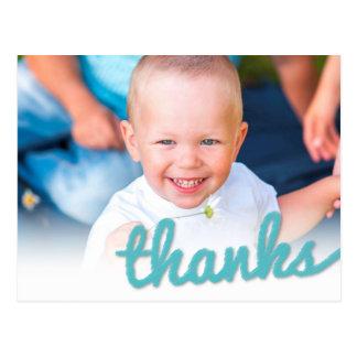 Grande photo de Merci d'anniversaire de bébé de Carte Postale