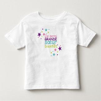 Grande soeur bientôt étoile t-shirt pour les tous petits