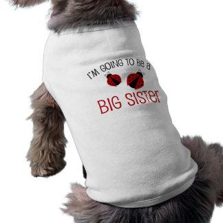 Grande soeur de coccinelle rouge à être manteaux pour animaux domestiques