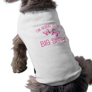 Grande soeur de papillon rose à être tee-shirts pour animaux domestiques