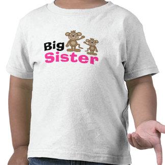 Grande soeur de singe mignon t-shirt