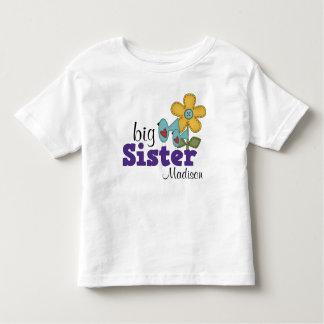 Grande soeur d'oiseaux de fleur mignonne de tee shirts