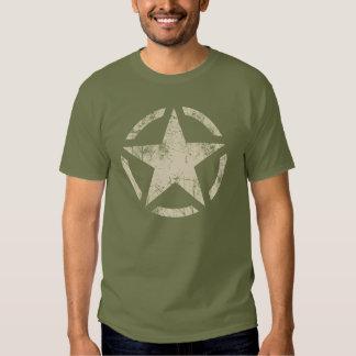 Grande style affligé d'étoile par grunge t-shirts