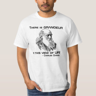 Grandeur Charles Darwin Quote Shirt