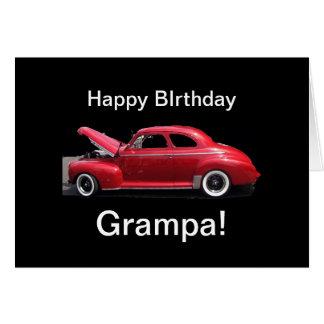 Grandfather Birthday Classic Car Card