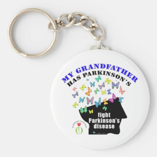 grandfather - butterflies parkinson awareness keychain