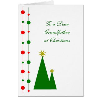 Grandfather Christmas Card Christmas Trees