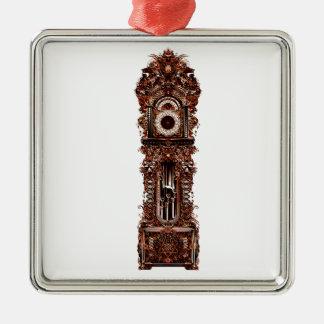 Grandfather Clock Metal Ornament