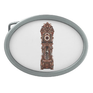 Grandfather Clock Oval Belt Buckle
