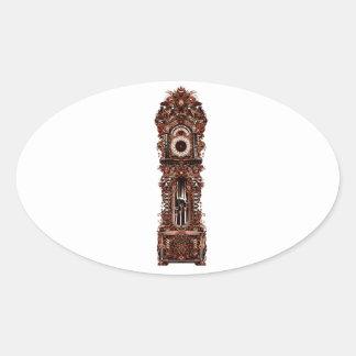 Grandfather Clock Oval Sticker