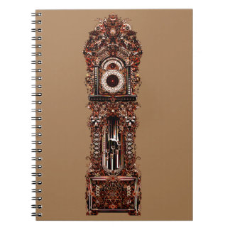 Grandfather Clock Spiral Notebook