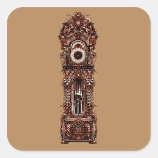 Grandfather Clock Square Sticker