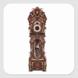Grandfather Clock Square Sticker