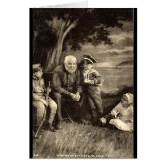 Grandfather Tells War Stories Vintage 1918 Card
