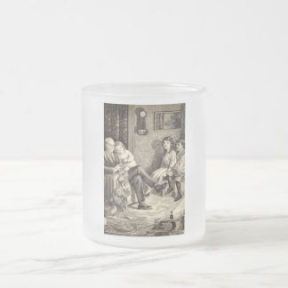 Grandfather's Tales Vintage 1918 Frosted Glass Coffee Mug