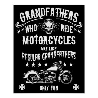 Grandfathers Who Ride Poster