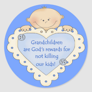 Grandkids Rewards Classic Round Sticker