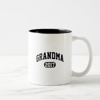 Grandma 2017 Two-Tone coffee mug
