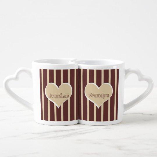 Grandma and Gradpa Coffee Mug Set