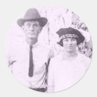 Grandma and Grandpa Brandon Classic Round Sticker