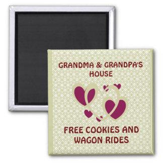 GRANDMA AND GRANDPAS/FREE COOKIES & WAGON RIDES MA MAGNET