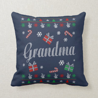 Grandma Christmas Throw Pillow