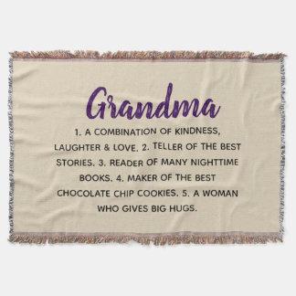 grandma description throw blanket