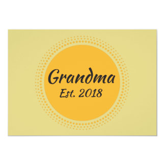 Grandma Est. 2018 Announcement Card