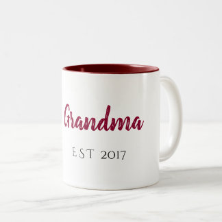 grandma est Two-Tone coffee mug