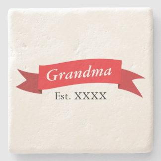 Grandma Est. XXXX Stone Beverage Coaster