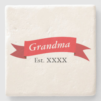 Grandma Est. XXXX Stone Coaster