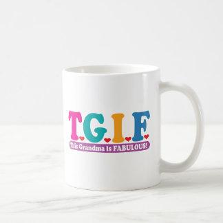 Grandma Fabulous Basic White Mug