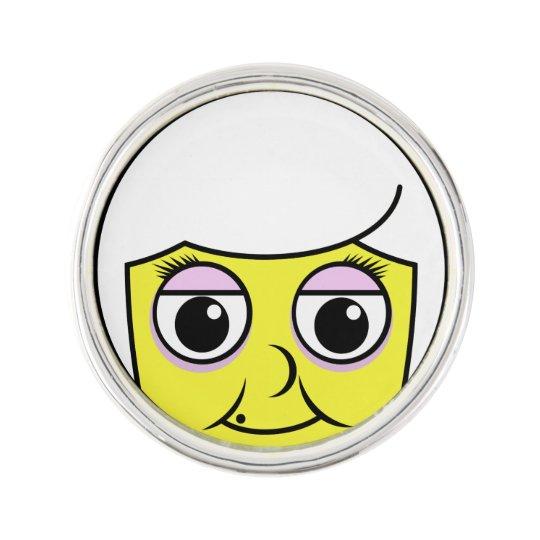 Grandma Face Lapel Pin