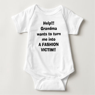 Grandma Fashion Victim Baby Bodysuit