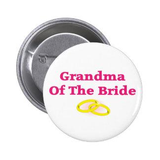 Grandma Grandmother Of The Bride Pin