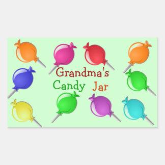 Grandma Grandpa Aunt Candy Jar or Bag Labels