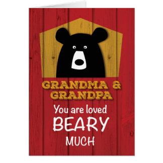Grandma & Grandpa, Valentine Bear Wishes Card