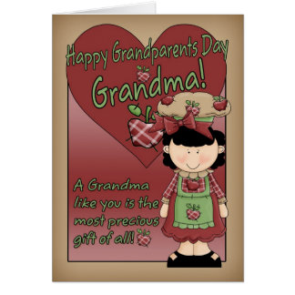 Grandma Grandparents Day Card - Little Apple Lady
