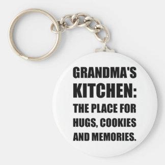 Grandma Hugs Cookies Memories Basic Round Button Keychain
