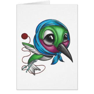 Grandma Humming Bird Card