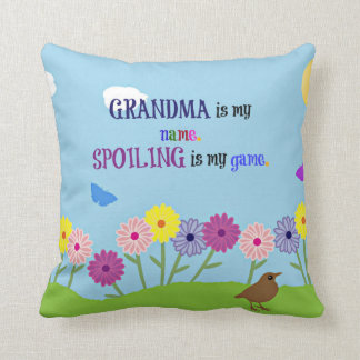 Grandma Humor - Grandma is My Name... Throw Pillow