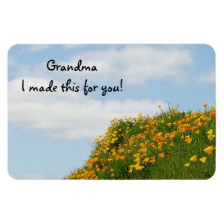 Grandma I made this with you! Fridge magents Poppy Rectangular Photo Magnet